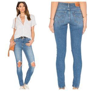 LEVI'S 721 High Rise Skinny Rugged Indigo Jeans